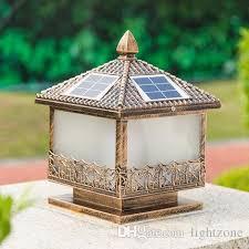solar power supply led post light outdoor led lawn decoration light landscaping solar led garden light post lamps sensor functions solar lamp outdoor led