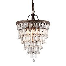 warehouse of tiffany martinee 4 light antique bronze glam waterfall chandelier