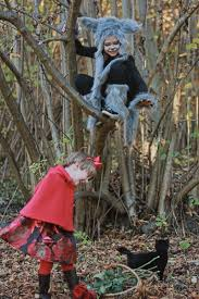 diy kids costumes little red riding hood and wolf