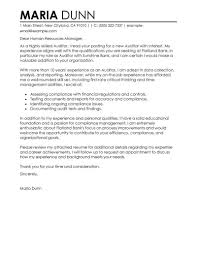 Leading Professional Auditor Cover Letter Examples