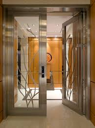 decoration stainless steel front door beautiful new yorker modern entry with glass pertaining to 10