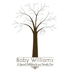 Printable Baby Shower Fingerprint TreeFingerprint Baby Shower Tree