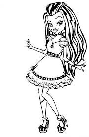 Small Picture Cute Draculaura Monster High Coloring Page Draculaura Coloring