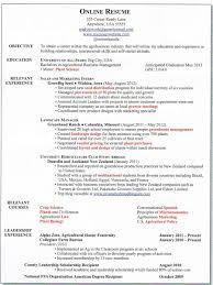 Online Resum Resume For Study