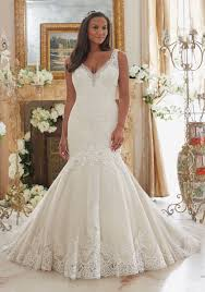 Mori Lee Asymmetrical Fitted Wedding Dress Ivory Size