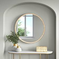 Rattan wall mirror handmade hanging decorative mirrors bedroom dressing table vanity mirror round creative manual vine mirrors.#homedecornordic #nordicroom #nordichomedecor #nordicbedroom #nordicstylehome. Beveled Glass Wall Mirrors Joss Main