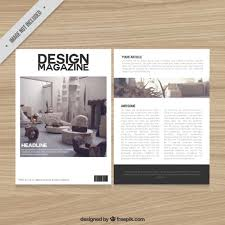 free magazine layout template decoration magazine template vector free download