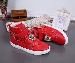 red versace shoes for men. replica versace high-tops shoes in 329506 for men $87.00 usd wholesale red t