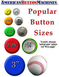Button Size Chart How To Choose A Button Size American Button Machines