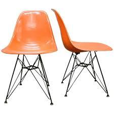 eames eiffel fiberglass side chair. pair charles and ray eames dsr fiberglass side chairs eiffel chair