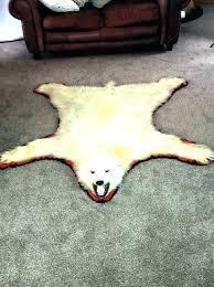 white bear rug real polar bear rug white fake with head shaped skin s bear white bear rug off white faux fur