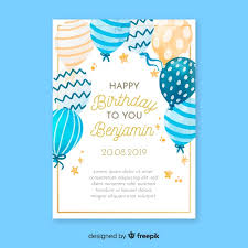 watercolor birthday invitation card
