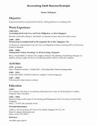 Bookkeeping Resume Example Bookkeeping Resume Examples Best Of Administrative Clerk Resume 37