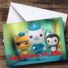 Personalised The Octonauts Birthday Card
