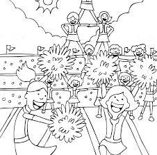 Printable Cheerleader Coloring Sheet Napavalleyappliancerepairinfo