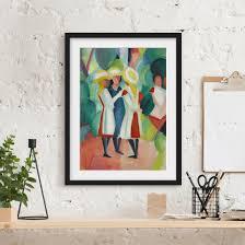 Bild Mit Rahmen August Macke Drei Mädchen Hochformat 43