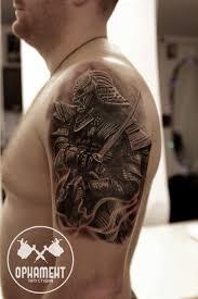 тату самурай на плече парня фото рисунки эскизы