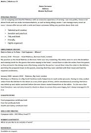 Wellsuited Head Waiter Resume Cute Previousnext For A Waitress