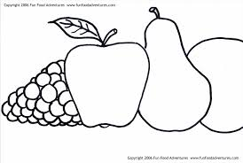 Small Picture Cross Sections Fruit Coloring Page For Kids Fruits A Bowl Of Pages