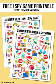 summer vacation i spy printable kid road trips