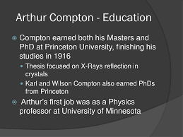 Arthur Compton Contribution To Light Ppt Arthur Holly Compton 1892 1962 Powerpoint