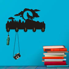 Woodland Coat Rack Classy 32Piece Howling Wolf Wall Hook Wall Hanger Clothes Woodland Animal