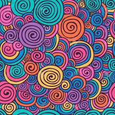 Abstract Pattern Impressive Abstract Colorful Hand Sketched Swirls Circles Seamless Background