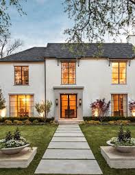 Windows Exterior Design Beauteous Beige Stucco Exterior Exterior Transitional With Gas Lanterns Double