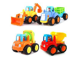 Set of 4 Cartoon Friction Powered Push \u0026 Play Vehicles 50 Best Toys for 3 Year Olds - Good Gift Ideas Boys and Girls
