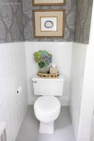 budget bathroom makeover with stenciled walls yep that s not walllpaper