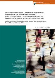 Anhang für arbeitsvertrag lohnerhöhung : Sozialversicherungen Lohnadministration Und Arbeitsrecht Fur Personalassistenten E Book Compendio Bildungsmedien
