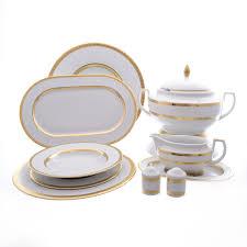 Купить <b>столовый сервиз</b> falkenporzellan constanza diamond white ...