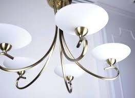 古銅5燈噴砂玻璃罩吊燈 bnl00092 照明 燈