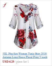 5XL Plus Size <b>Women</b> Tunic Shirt 2019 <b>Autumn Long Sleeve</b> Floral ...