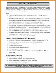 Tutor Resume Sample New Math Tutor Job Description Resume Resume Ideas