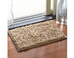 chezmax chenille specific color non slip indoor outdoor hello doormat large small inside outside front door mat carpet floor rug camel 18 x26