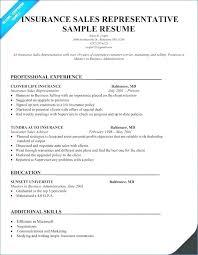 Insurance Representative Resume Englishor Com