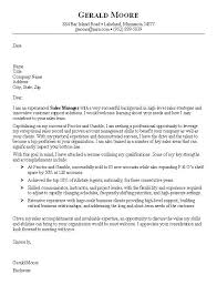 Sales Job Cover Letter Example Cover Letter Sales Sample Free