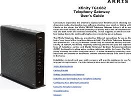How To Fix Us Ds Blinking Light Spectrum Tg1682 4 Port Docsis 3 0 Gateway User Manual User Guide