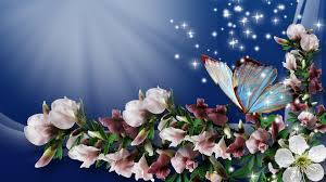 Flowers With Butterfly Wallpaper HD ...