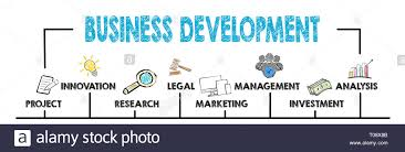 Business Development Concept Chart With Keywords And Icons