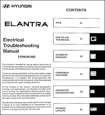 2005HyundaiElantraETM TOC 2005 hyundai elantra electrical troubleshooting manual original on 2005 hyundai elantra wiring diagram