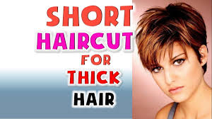 Short Haircut For Thick Hair Women Hairstyles Ideas 2018 Youtube