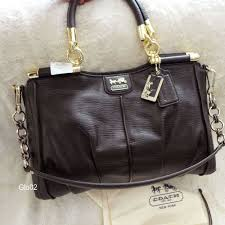 Nwt coach madison pinnacle brown textured leather carrie satchel handbag  21503