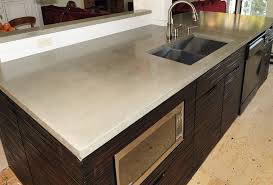 image of stained concrete countertops for kitchen