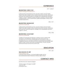 Text Resume Template Mesmerizing Simple Resume Templates [28 Examples Free Download]