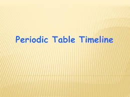 Periodic Table Timeline - ppt video online download