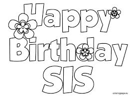 Happy Birthday Color Page Birthday Coloring Pages Printable Happy