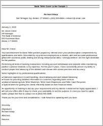 Teller Cover Letter Sample Sample Bank Teller Cover Letter 7 Examples In Word Pdf