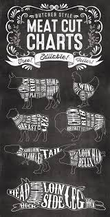 Meat Chart 7 Free Editable Butcher Meat Cut Chart Illustrations